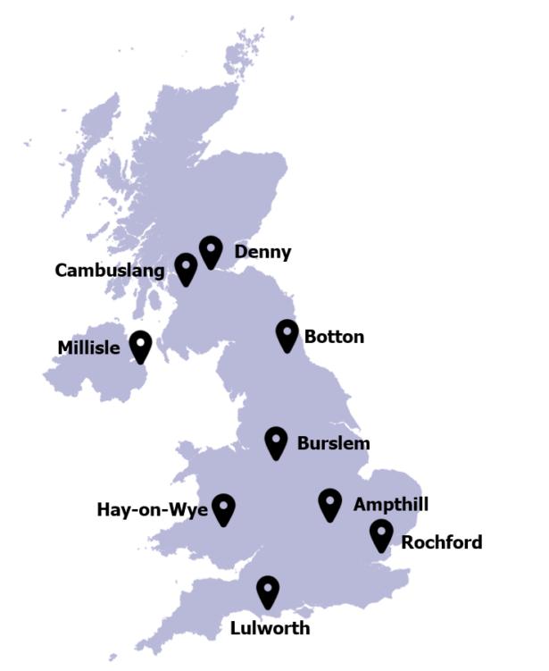 Access to Cash pilot locations