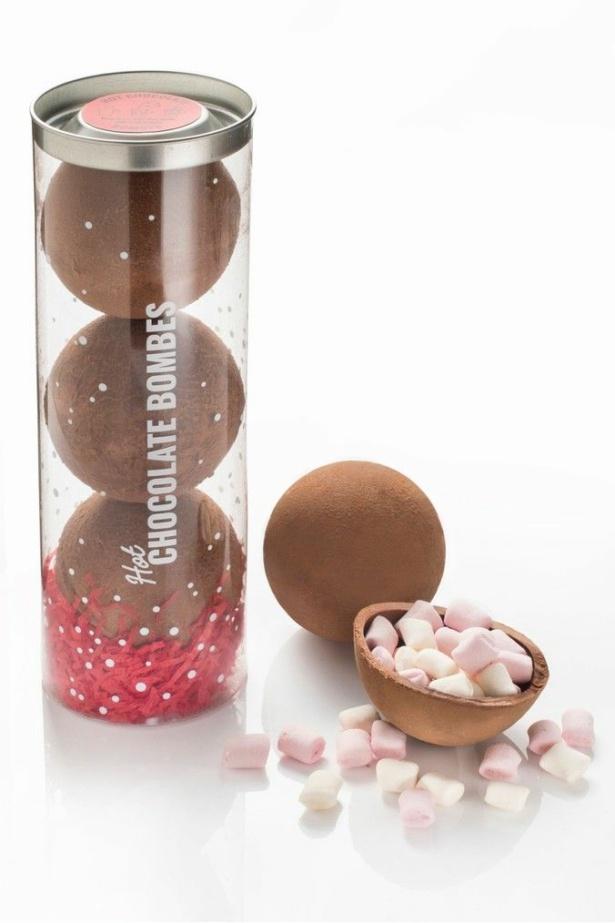 Gourmet Chocolate Pizza Company hot chocolate bombs.