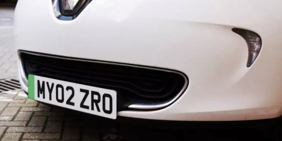 Electric cars hit the road with new green number plates