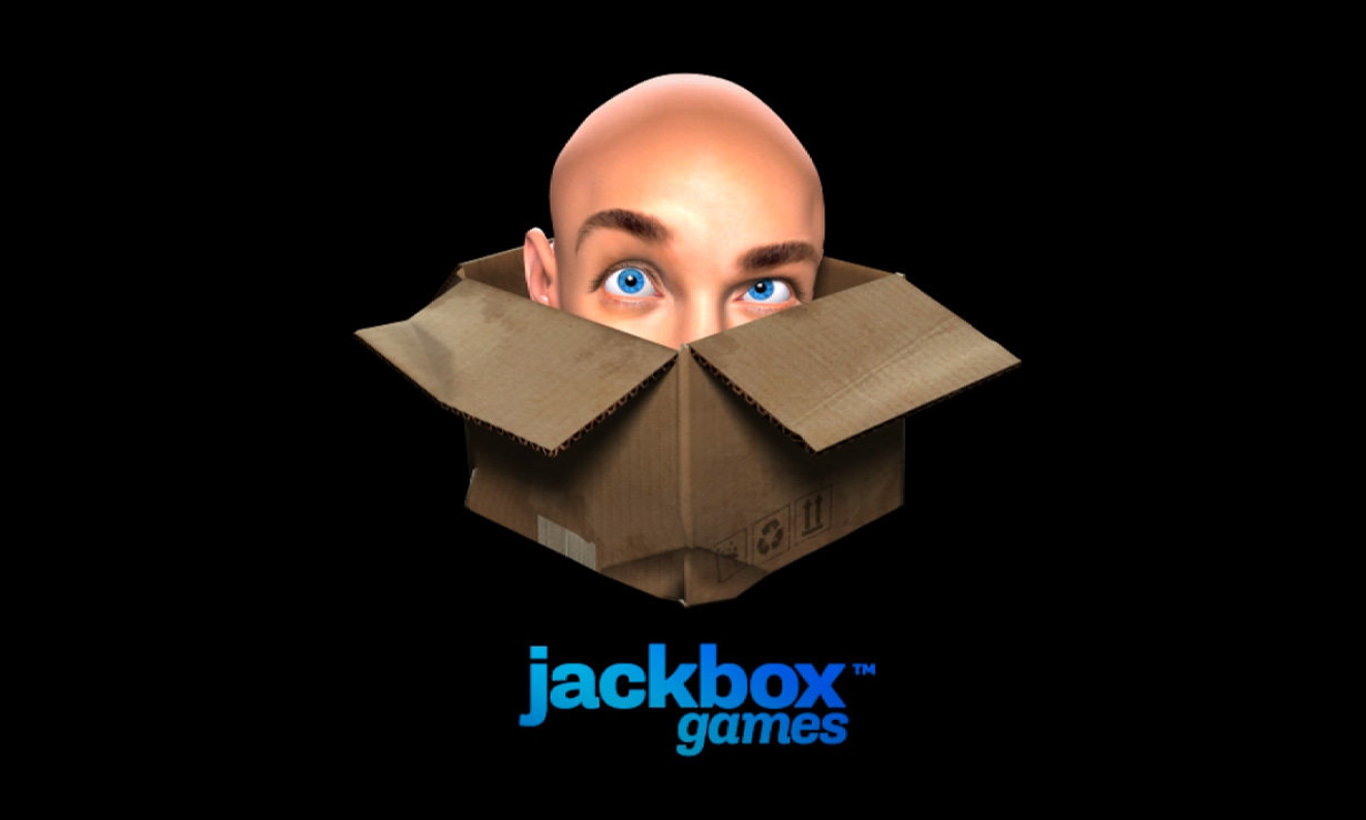 The Jackbox Games logo on display as a game is loaded