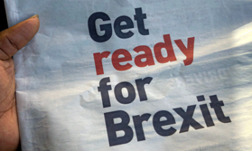Sign saying get ready for Brexit