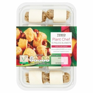 Tesco plant chef pigs in blankets