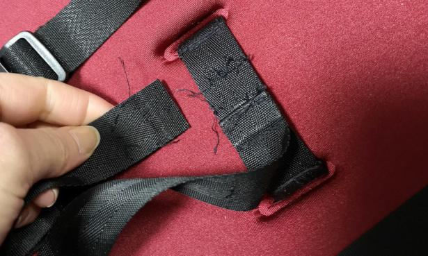 Broken pushchair harness