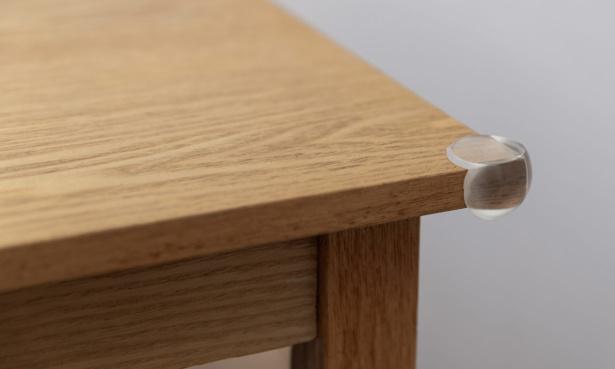 Corner protector on table