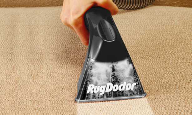 Rug Doctor being used on a surface