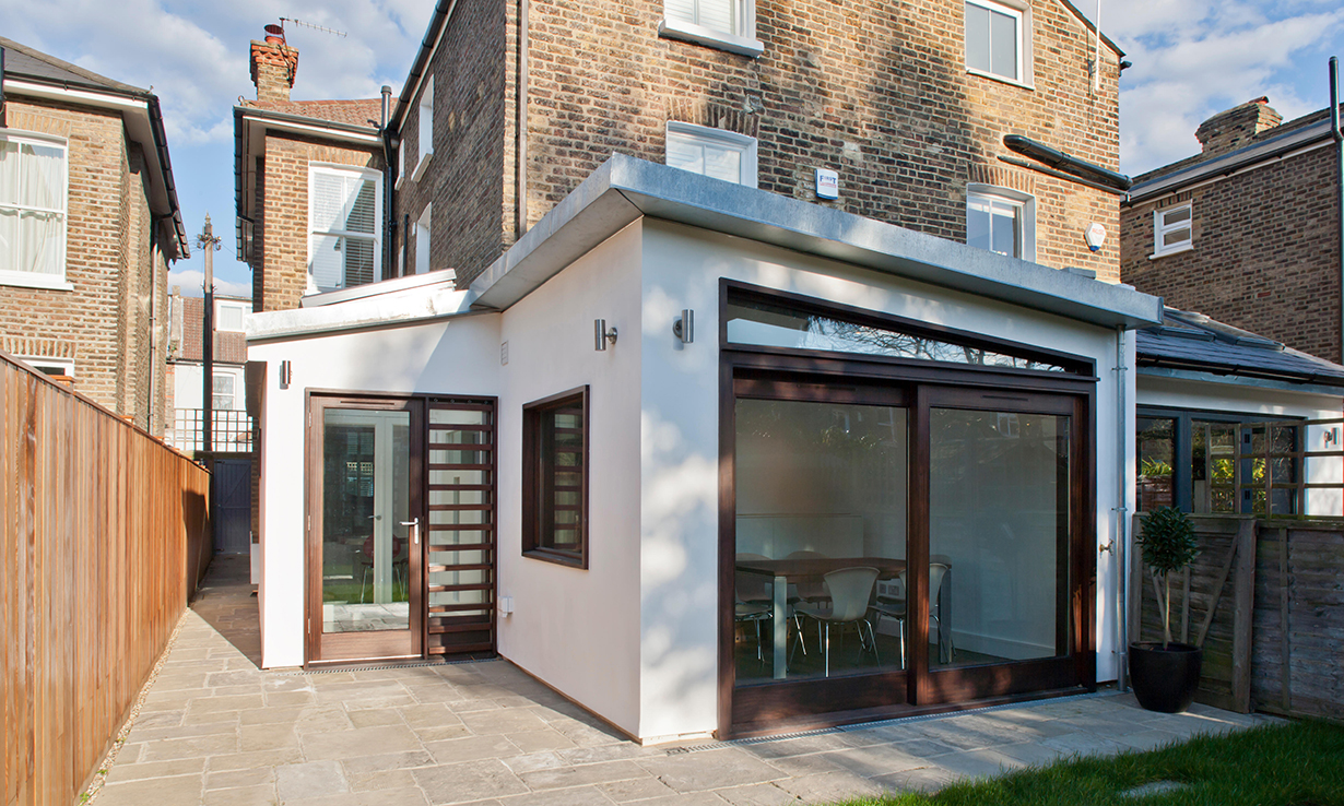 rear extension to a semi-detached house