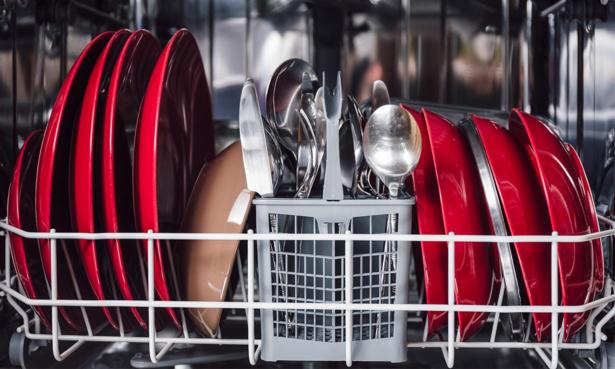A full loaded dishwasher