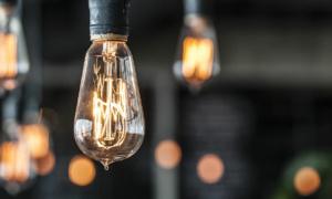 a close-up of a lightbulb