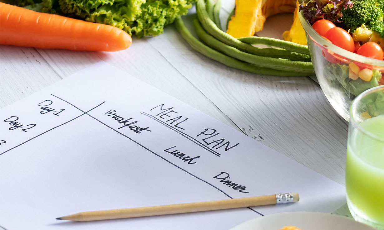 Creating a meal plan is one way to master cheap healthy eating.