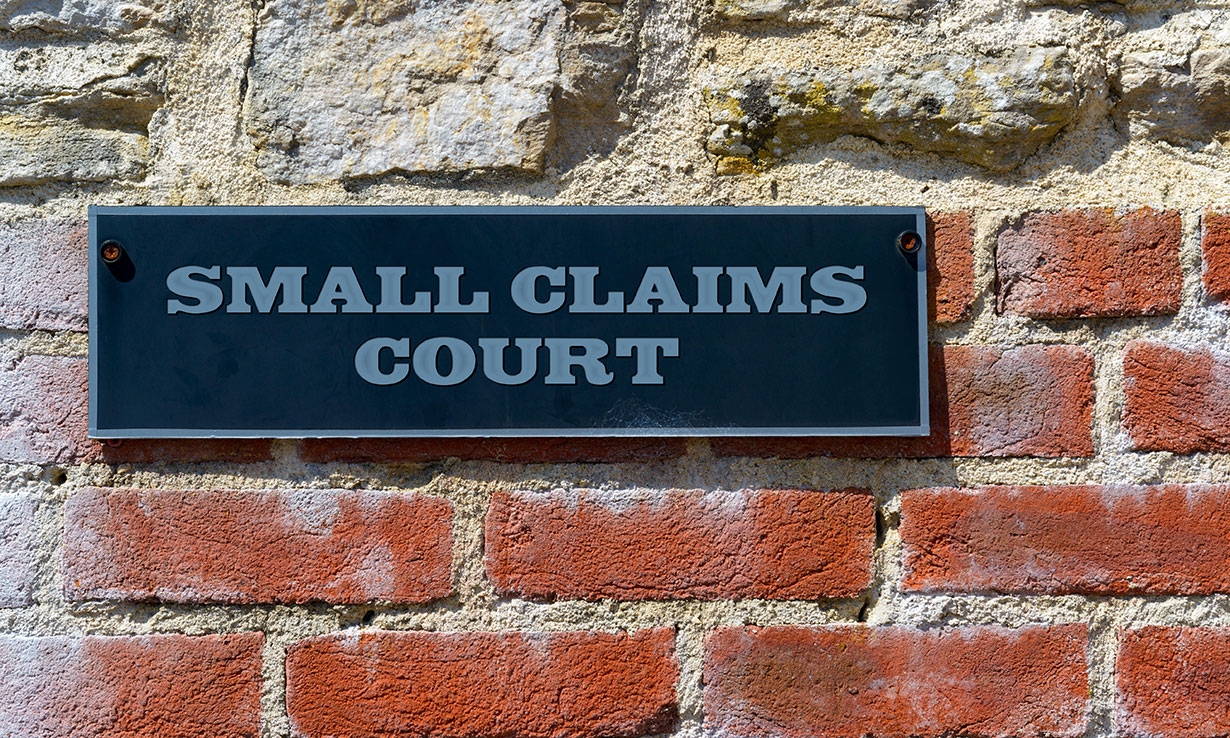 small courts sign