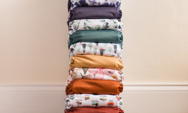 Pile of reusable nappies