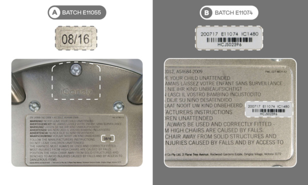 iCandy michair recall information