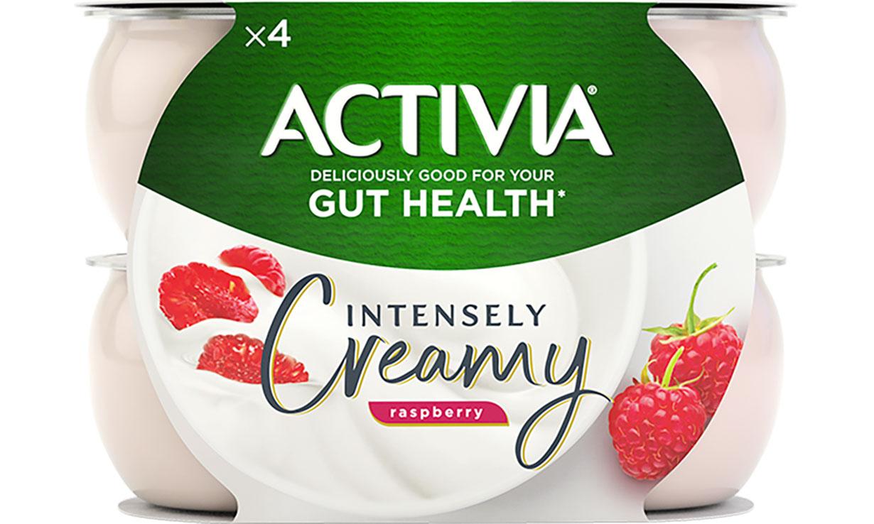 Activia Intensely Creamy Raspberry Yogurt.