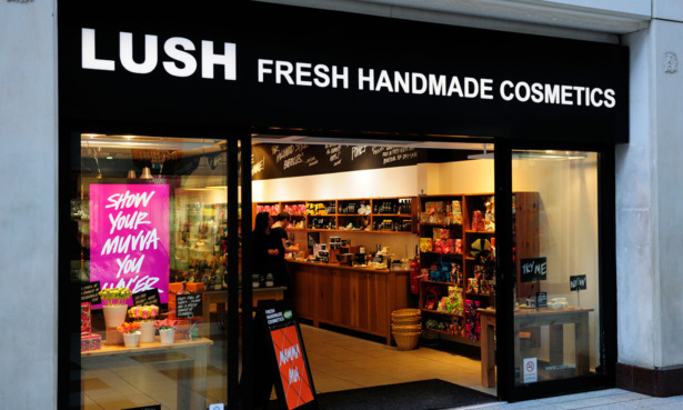 Lush shopfront