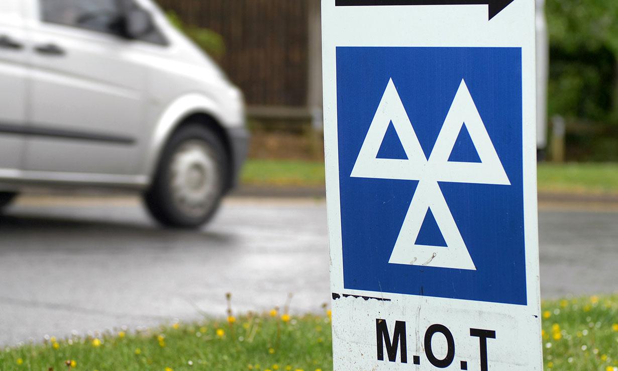 MOT test sign