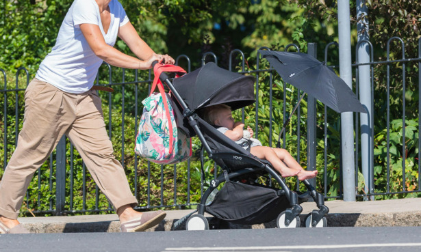 Pushchair with parasol
