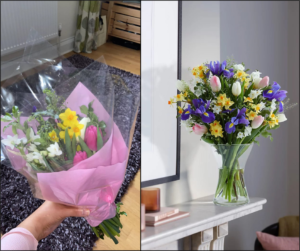 M&S flowers vs online image