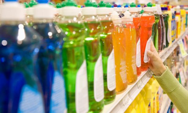 Shopping for washing-up liquid