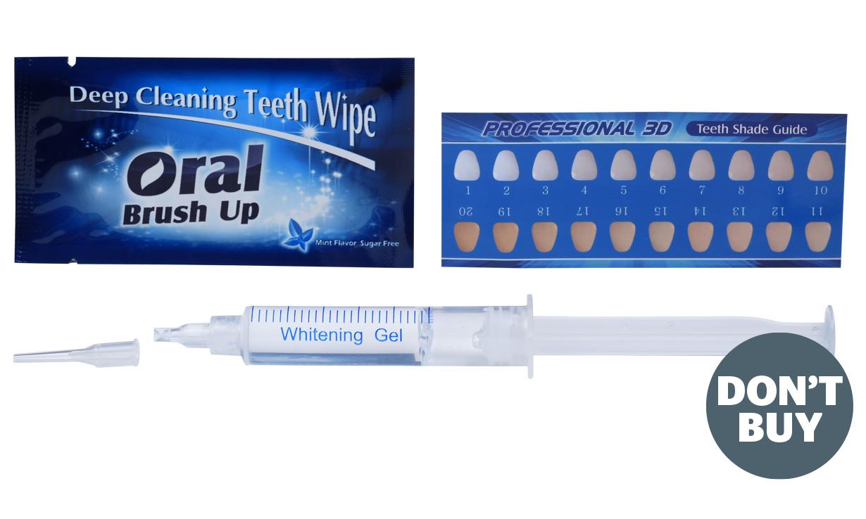 Unsafe teeth whitening kit
