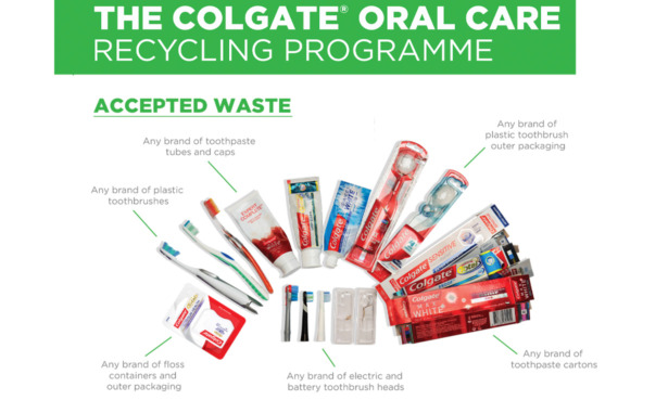 The Colgate Oral Care recycling programme