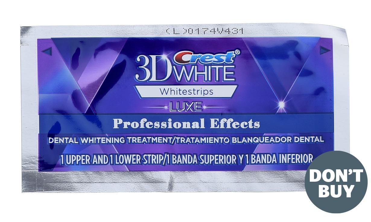 Unsafe teeth whitening strip
