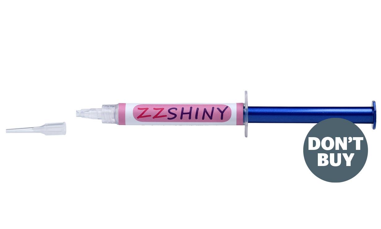 Unsafe teeth whitening syringe