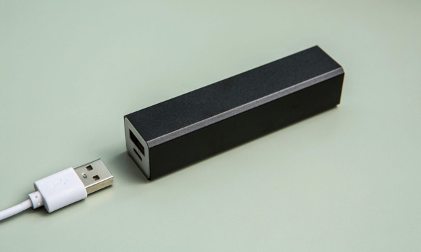 Power bank with USB cable