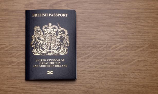 New blue British passport