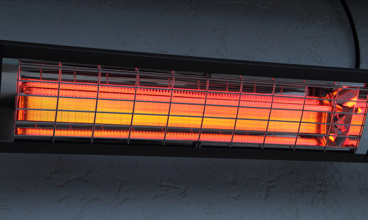 Wall mounted patio heater