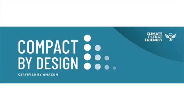 This is the Amazon Compact by Design logo in blue