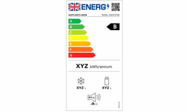 New fridge freezer energy label