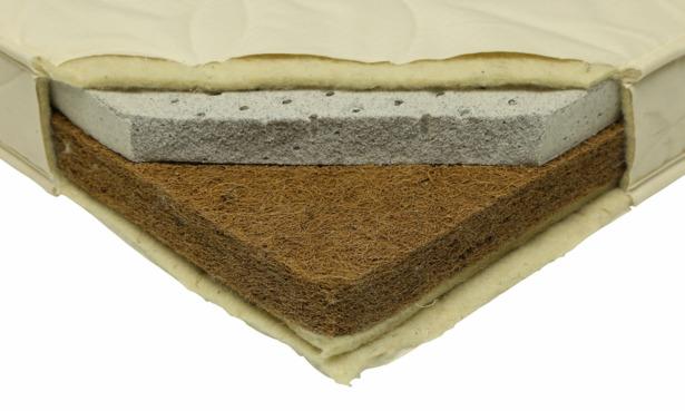 Little Green Sheep natural twist cot bed mattress