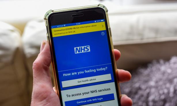 NHS app on phone