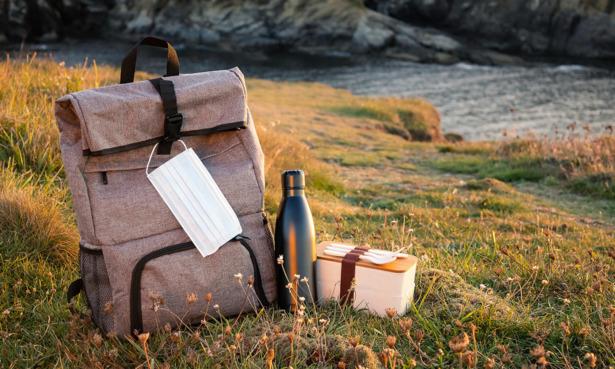 A cooler backpack