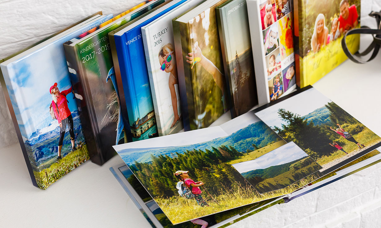 A selection of photo albums