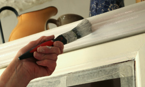 painting a kitchen cabinet