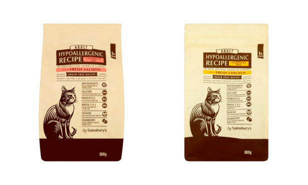 by Sainsbury's cat food products recalled