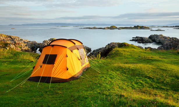 A tent by the sea