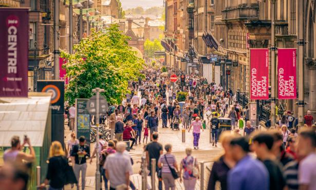 Glasgow shopping street