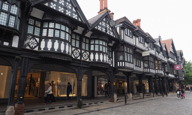 Chester The Rows buildings