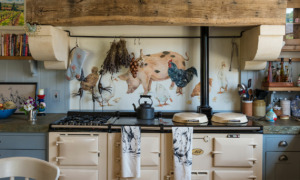 an aga in a country kitchen