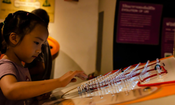 Girl at science museum