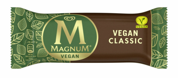 What is a vegan magnum made of?