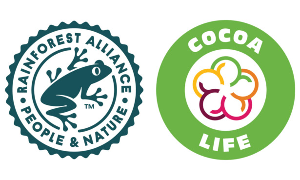 Rainforest Alliance and Cocoa Life logo