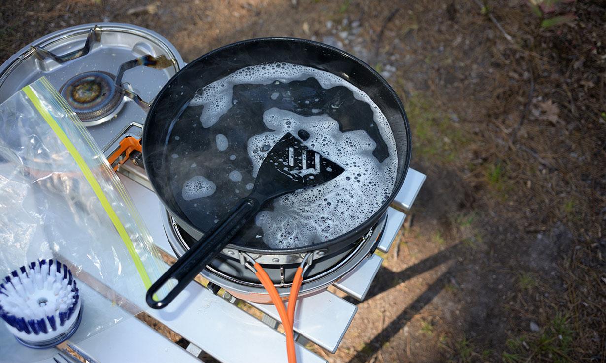 Washing up while camping