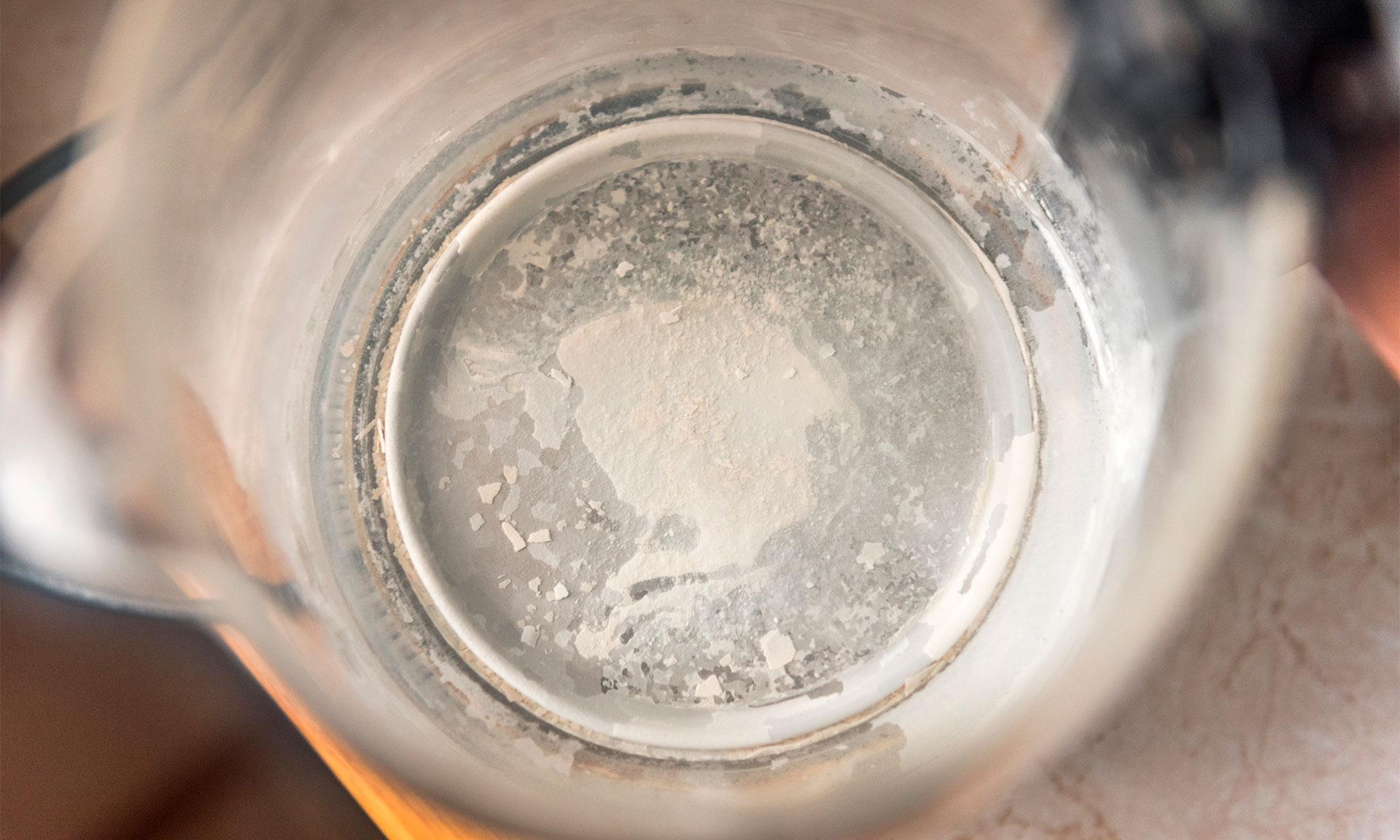 Limescale inside a kettle