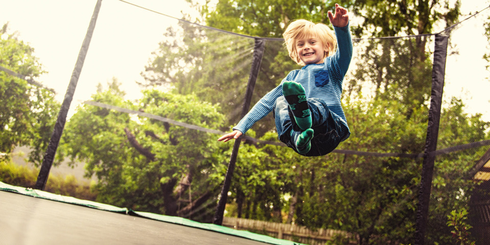 Which garden locations lead to the most trampoline injuries?