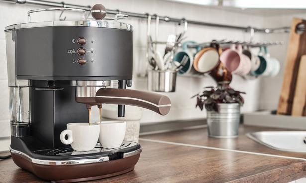 Coffee machine at home