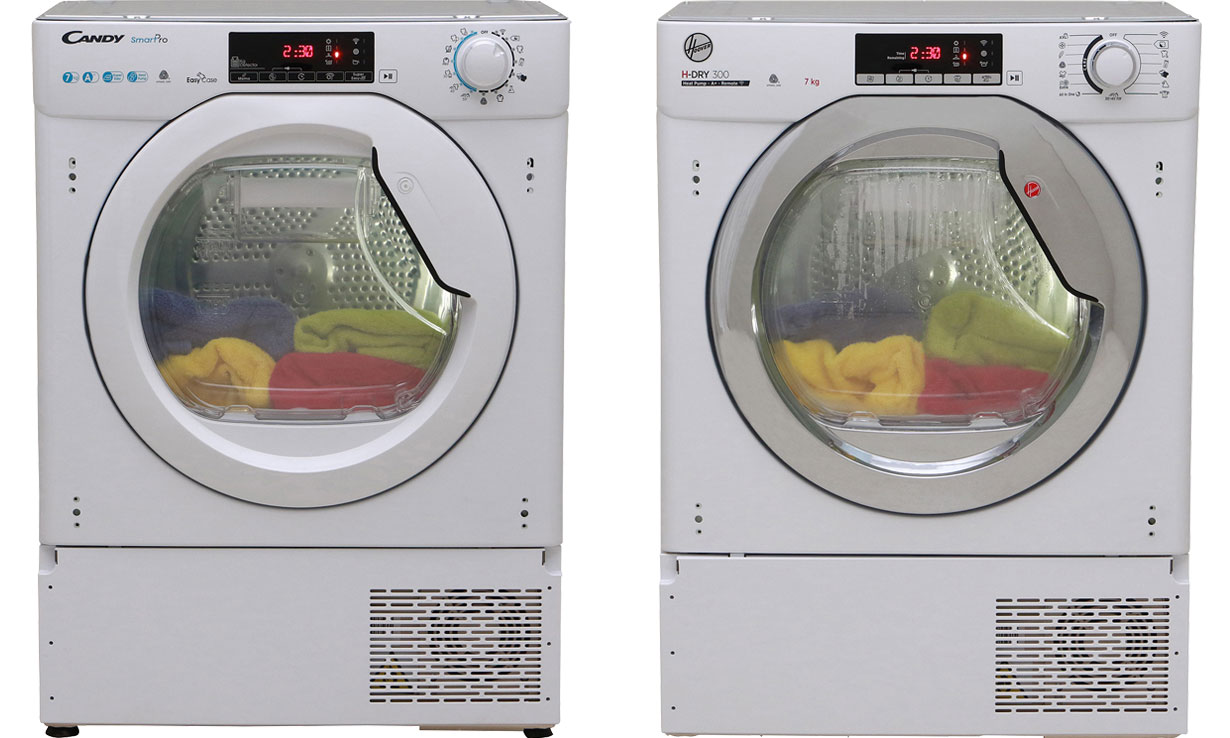 Candy BCTDH7A1TE (£449) and the Hoover H-Dry 300 BATD H7A1TCE-80 (£524) tumble dryers