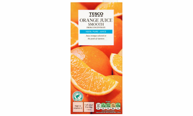 Tesco Long Life orange juice